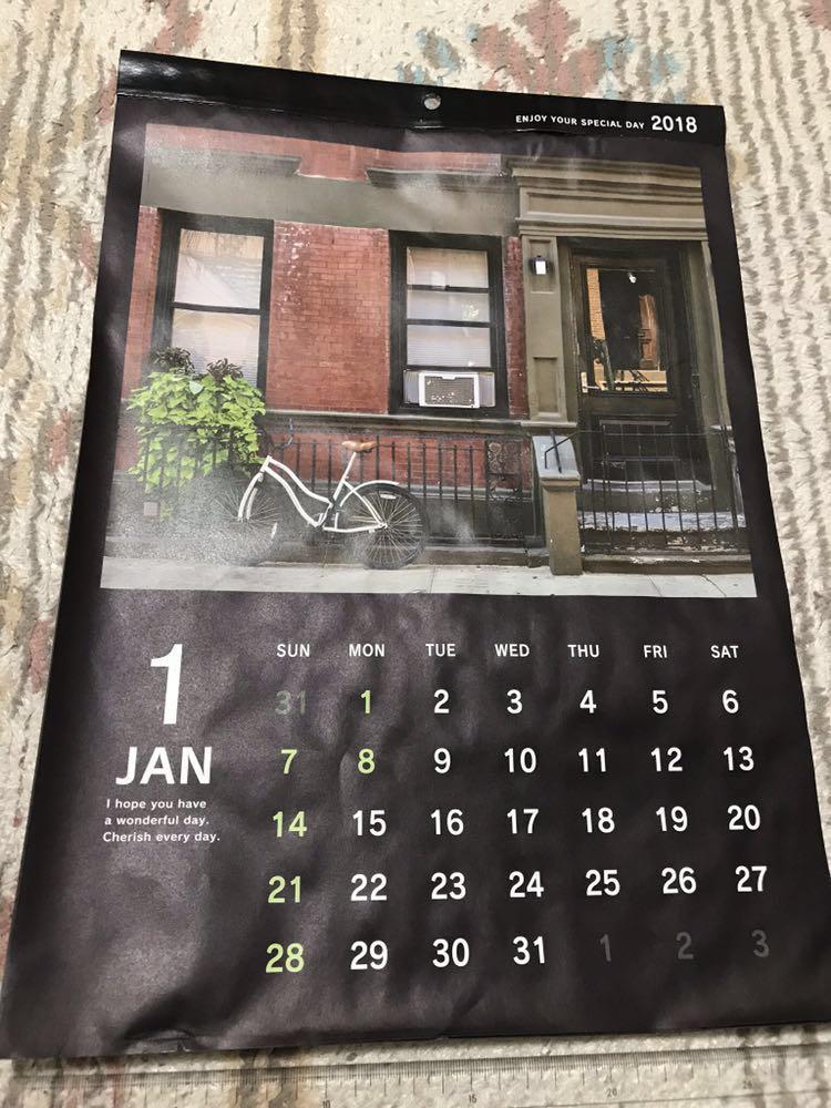 kyowa 2018 A3 壁掛け カレンダー 風景 C18319_画像1
