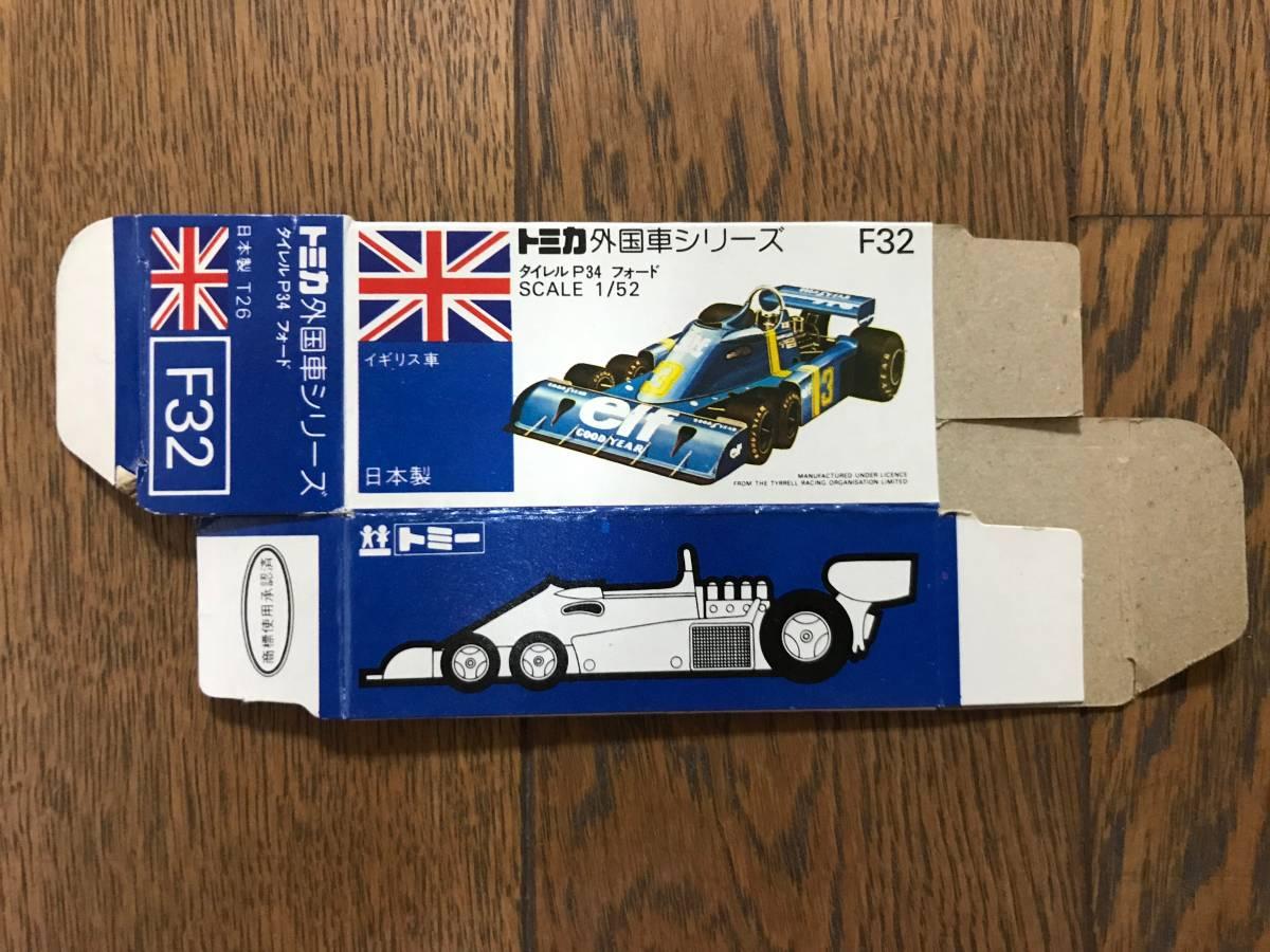 トミカ F32-1 タイレルP34フォード 空箱