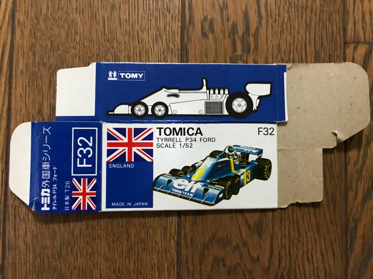 トミカ F32-1 タイレルP34フォード 空箱_画像2