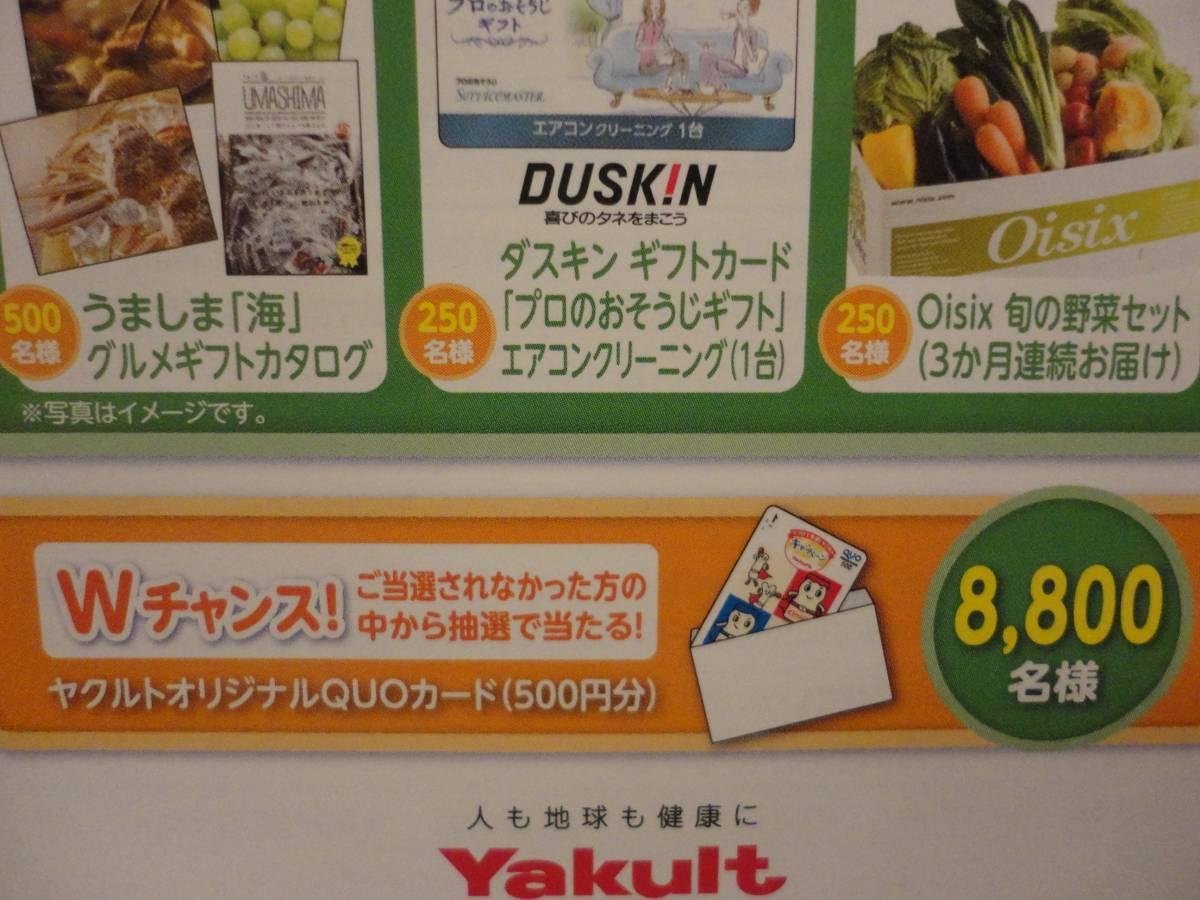 ヤクルト 懸賞 応募 グルメギフトカタログ500名様 ダスキンギフトカード250名様 旬の野菜セット250名様_画像3