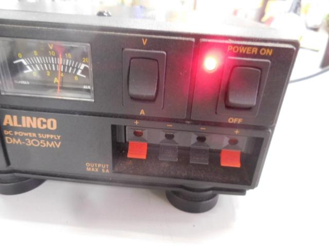 ○1円~ALINCO アルインコ安定化電源 DM-305MV AC100V→DC13.8V 動作確認済_画像3