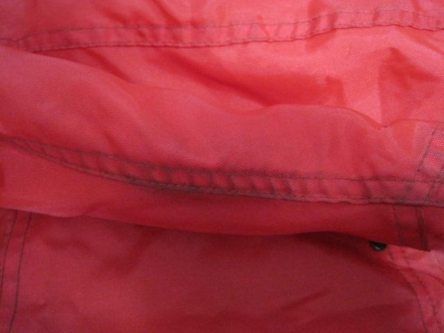 防寒カドヤKADOYA NEW CONCEPTERナイロン赤ライダースジャケットSサイズ中綿入り裏ロゴ_画像6