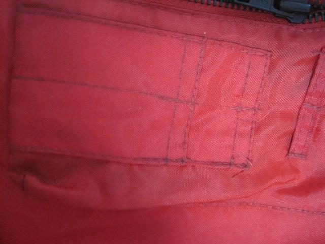 防寒カドヤKADOYA NEW CONCEPTERナイロン赤ライダースジャケットSサイズ中綿入り裏ロゴ_画像8