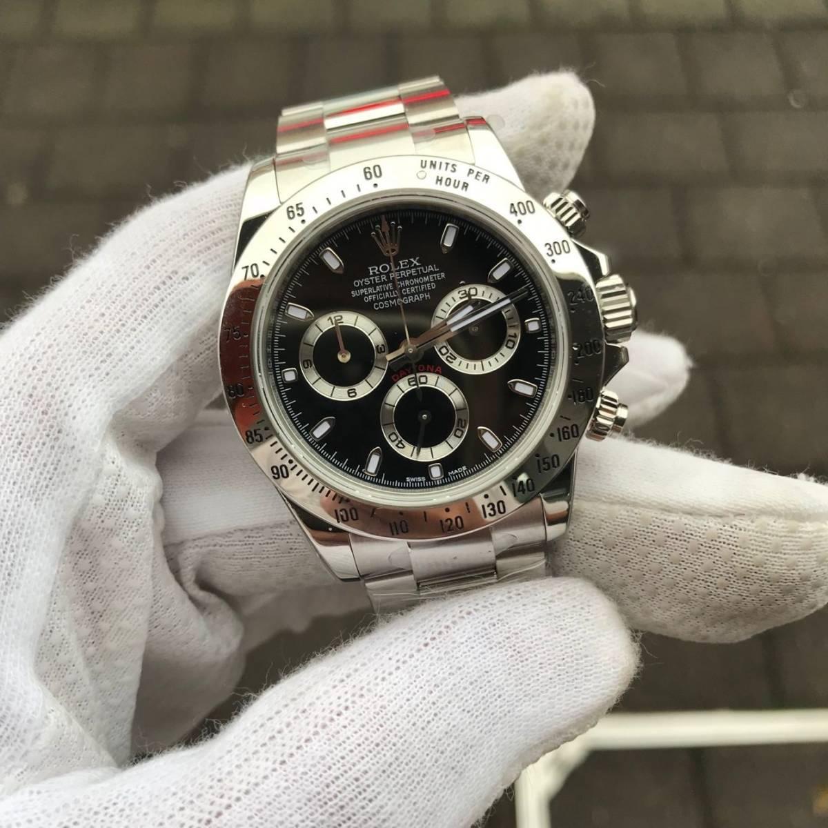 ロレックス AR デイトナ 自動巻 白文字盤 メンズ腕時計