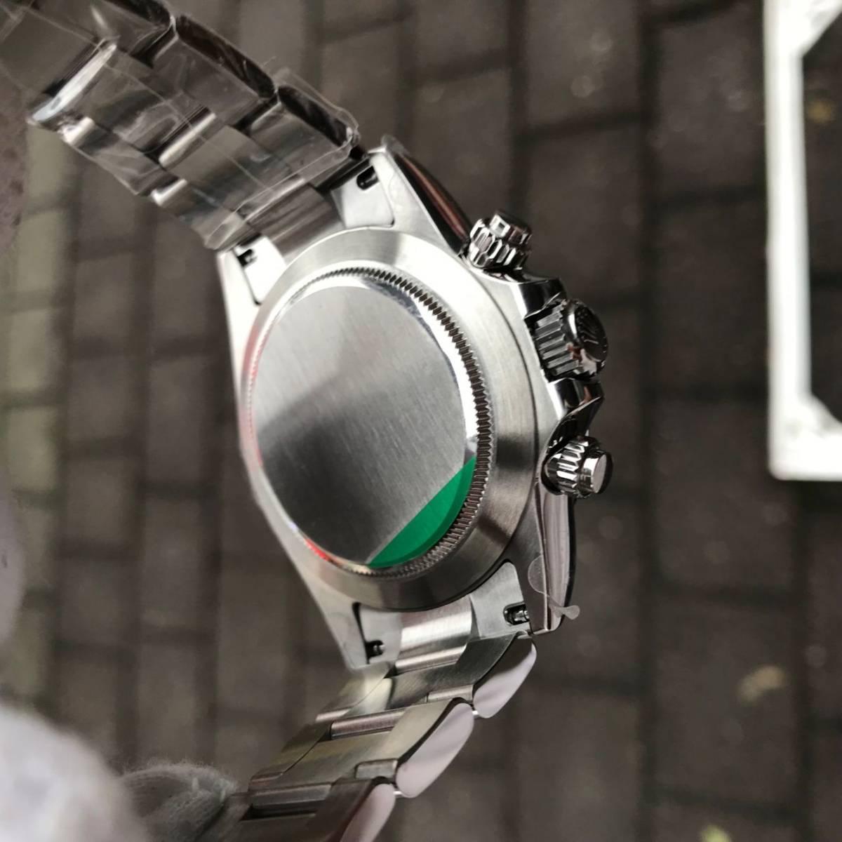 ロレックス AR デイトナ 自動巻 白文字盤 メンズ腕時計_画像3