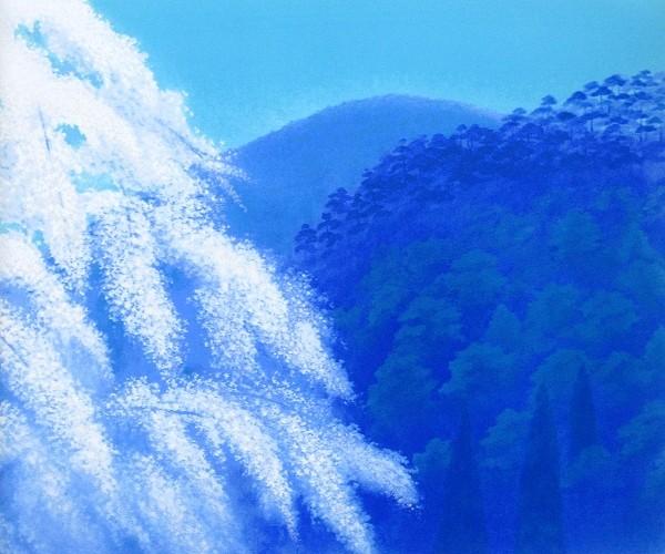 東山魁夷 「春愁」リトグラフ 真作保証 生前作 【絵画 アート 美術品 インテリア】 【創