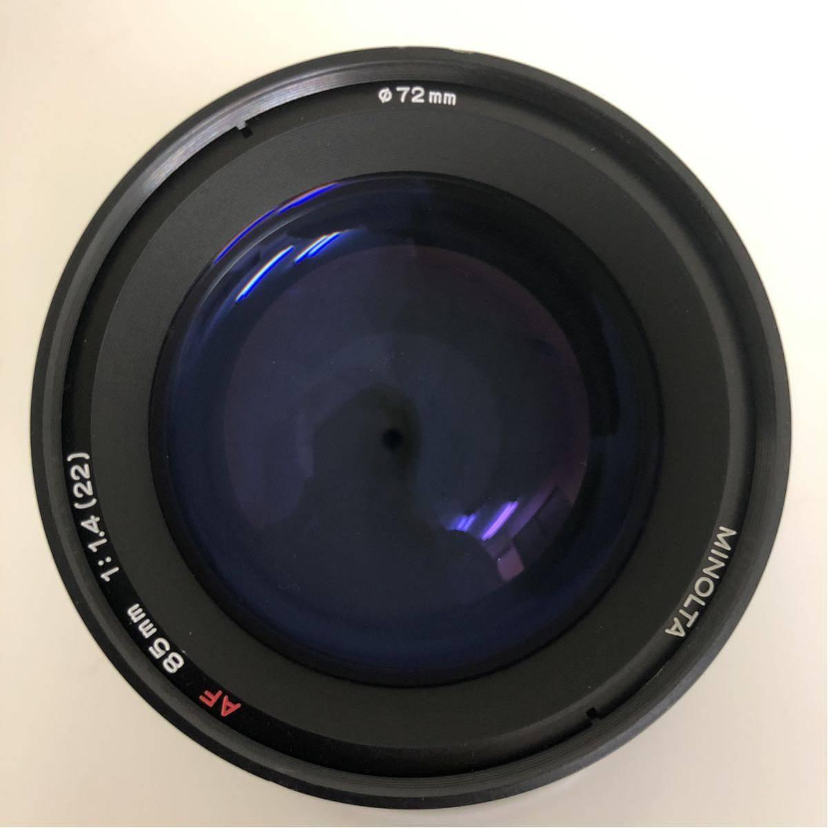 [カメラレンズ]ミノルタ/MINOLTA AF LENS 85mm 1:1.4(22)_画像4