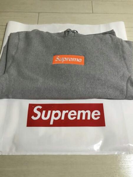 半タグ付き未使用品 Supreme Box logo Hooded Sweatshirt M