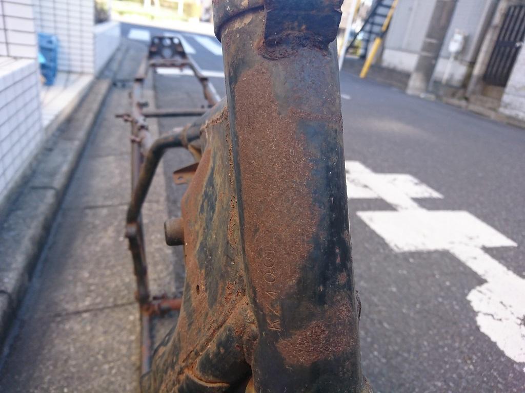 カワサキ Z400FX E4国内書無し部品取りフレーム_画像3