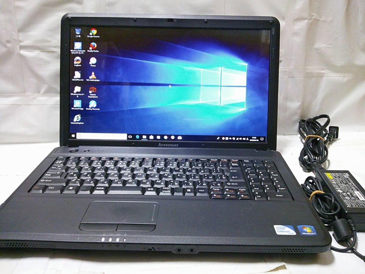 ◇整備済PC/Windows10 Home 64bit Lenovo G550 2コア Dual-Core T3300 2.00GHz 3GB 320GB DVDハイパーマルチ Webカメラ 無線 即使用◆