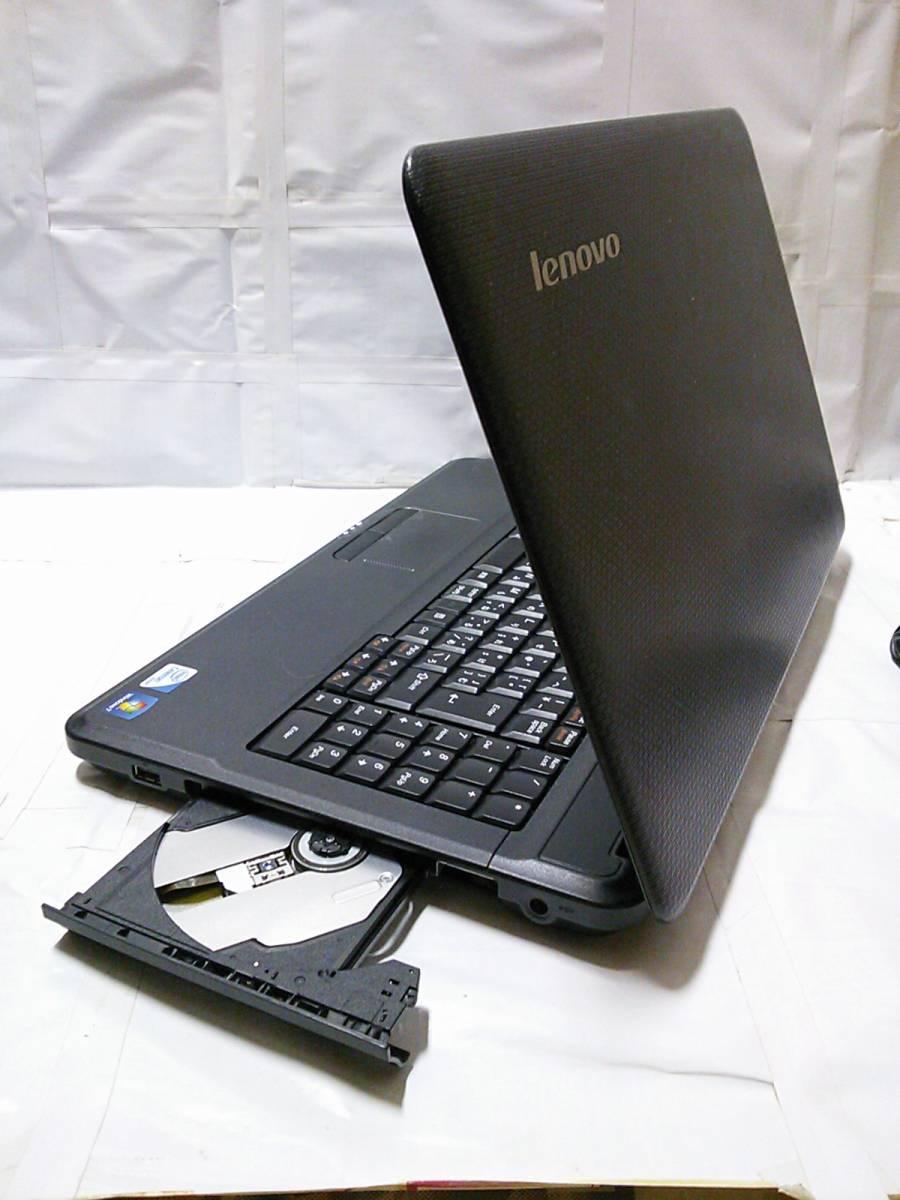 ◇整備済PC/Windows10 Home 64bit Lenovo G550 2コア Dual-Core T3300 2.00GHz 3GB 320GB DVDハイパーマルチ Webカメラ 無線 即使用◆_画像3