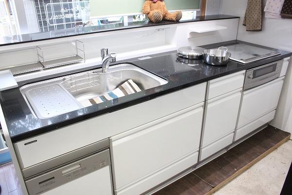 □タカラ システムキッチン レミュー 大理石 IHクッキングヒーター 展示品_画像1