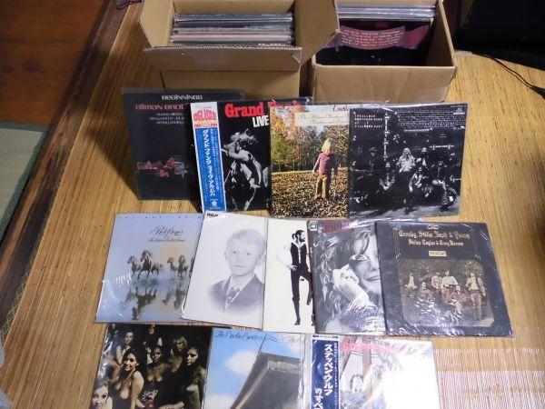 LP ロック レコードまとめて60枚(2箱) ジミ・ヘンドリックス グランド・ファンク・レイルロード他 洋楽 ポップス