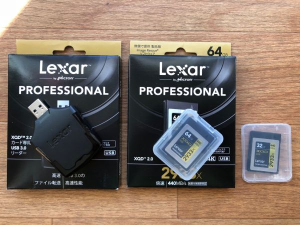 Lexar レキサー XQDカード 64GB + 32GB Nikon D5 D850 D500 XQD 2.0カード専用 USB 3.0リーダー 中古 美品 完動品 送料無料