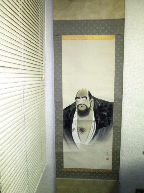 【掛け軸】 ★ 呉書栄 ★ 人物画 幅54.5×長さ187㎝ 箱なし