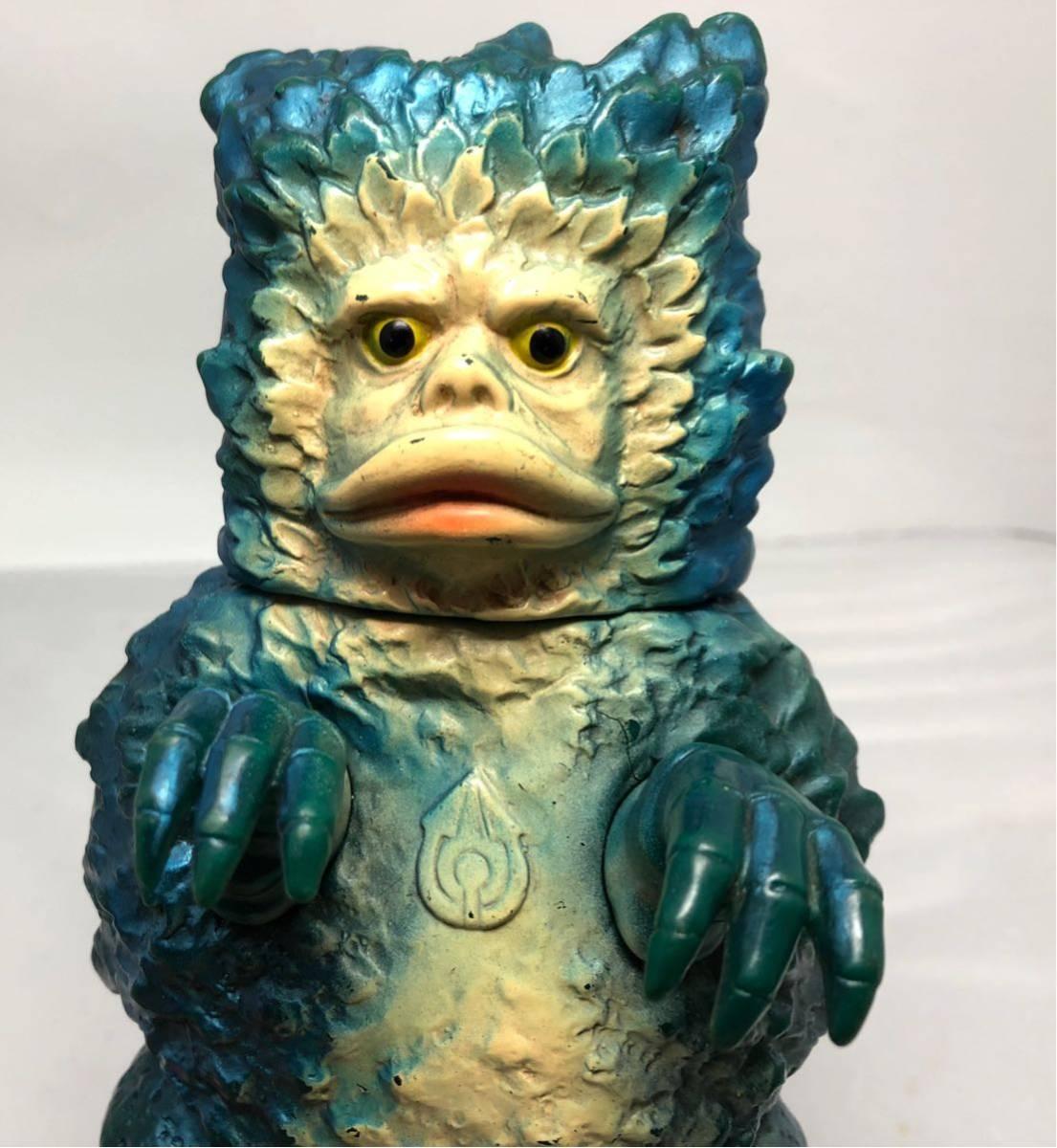 激レア マルサン 希少ブルーメタリック 第2期 ガラモン 当時物 年代物 怪獣 ウルトラマン ソフビ 良品 1966_画像3