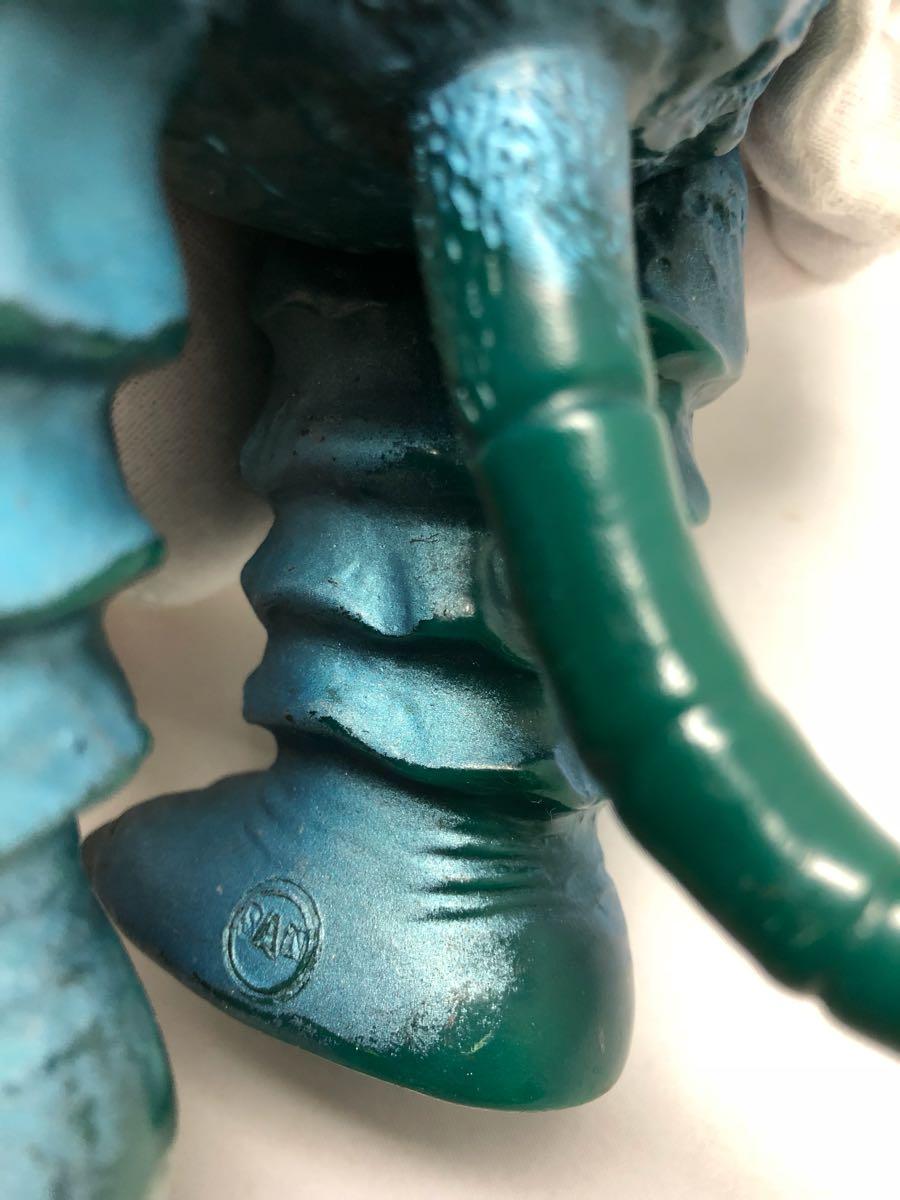 激レア マルサン 希少ブルーメタリック 第2期 ガラモン 当時物 年代物 怪獣 ウルトラマン ソフビ 良品 1966_画像8