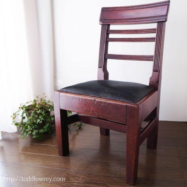 【ジョージアンの小さな奇跡】アンティーク イギリス 子供用 椅子 チャイルド チェア ◆Antique Georgian Mahogany Child Chair ◆