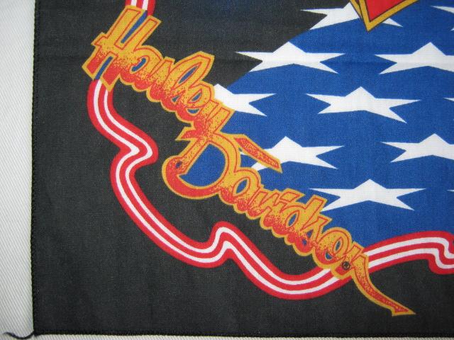 ★中古品 USA製 HARLEY-DAVIDSON ハーレーダビッドソン バンダナ 黒 イーグル 鷲 MADE IN U.S.A. アメリカ製 米国製★_画像5