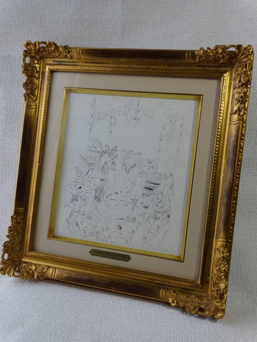 藤田嗣治 (L.T.FOUJITA) 銅版画『魅せられし河(娼婦の館)』 1951年制作
