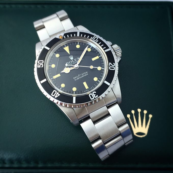 再出品 売切 Vintage Rolex Submariner Ref.5513 希少 日ロレ見積有 フチ無し1984年 9315