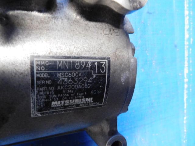 H81W EKスポーツ H82W EKワゴン H82A トッポ コンプレッサー MN189413_画像2