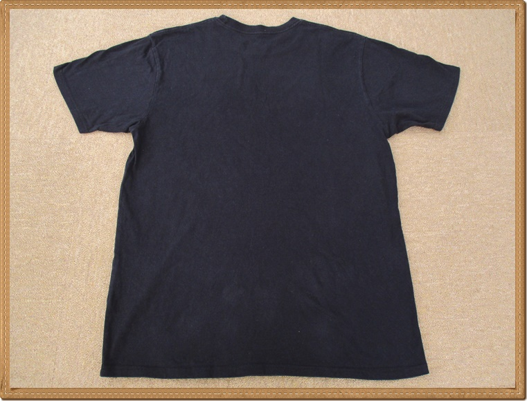 ☆634 DC SHOES ディーシーシューズ ◆格好良い カモフラ プリント◆ メンズ XL スケボー スポーツ 迷彩 丸首 半袖 Tシャツ ロゴプリ 黒_後面