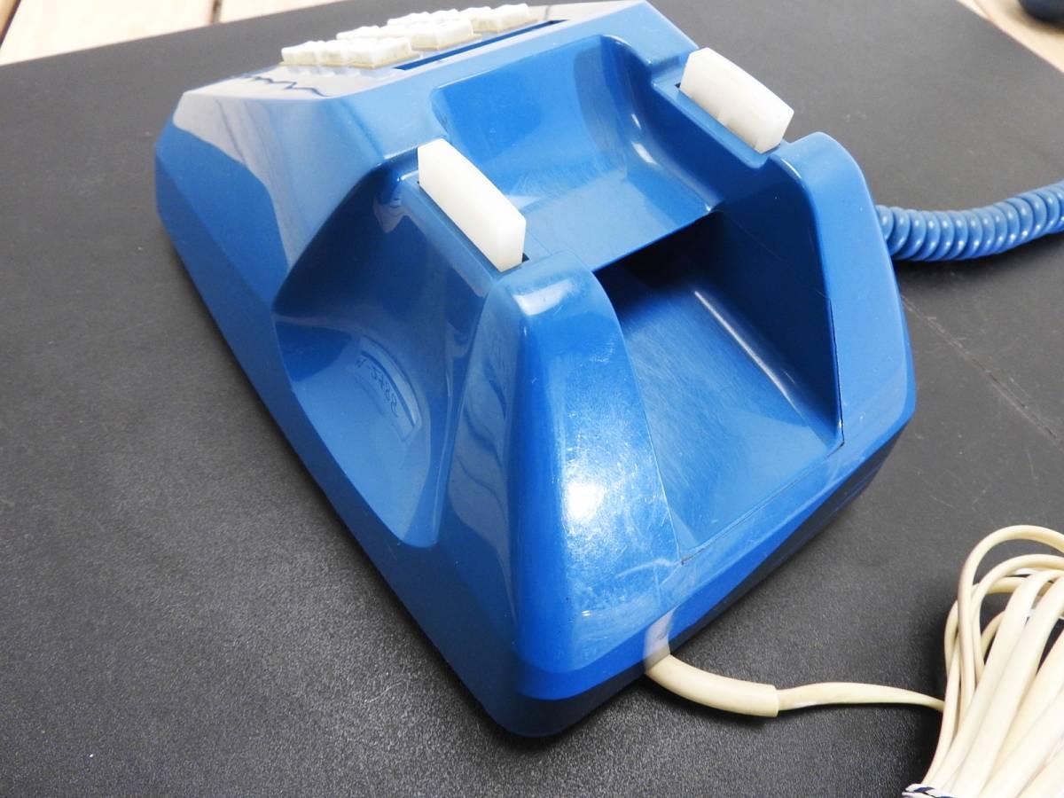 昭和レトロ 電話機★プッシュホン 601-P ブルー(青)黒電話★希少カラー「管理№M2488」_画像7