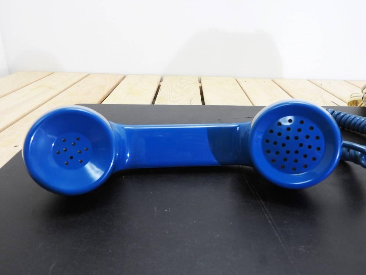昭和レトロ 電話機★プッシュホン 601-P ブルー(青)黒電話★希少カラー「管理№M2488」_画像9
