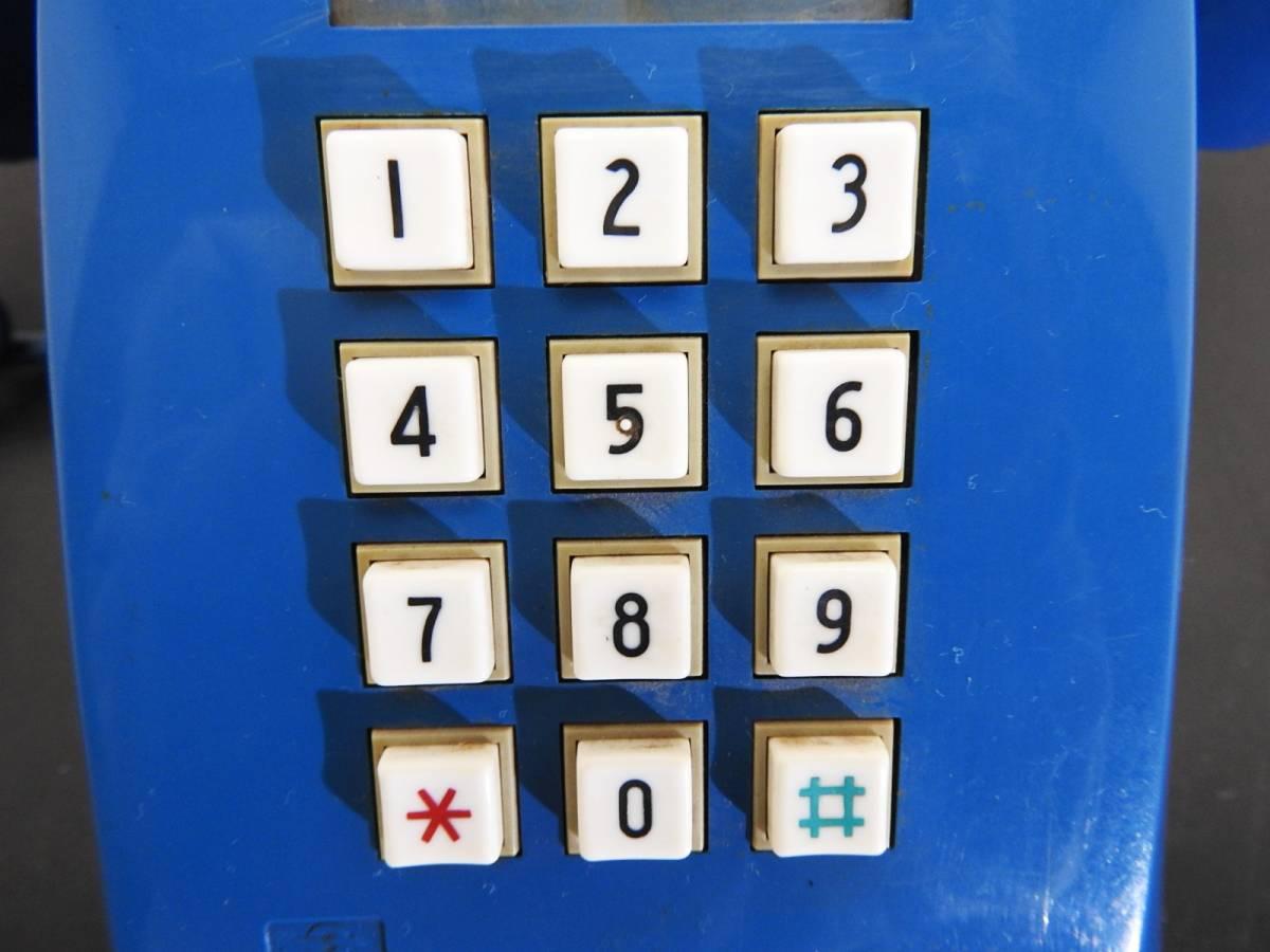 昭和レトロ 電話機★プッシュホン 601-P ブルー(青)黒電話★希少カラー「管理№M2488」_画像10