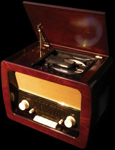 410 新品 送料無料 アンティーク調ラジオ付き CDプレーヤー AM FM 短波 内蔵バスレフ レトロ 木製 電動開閉 音楽再生 リピート機能