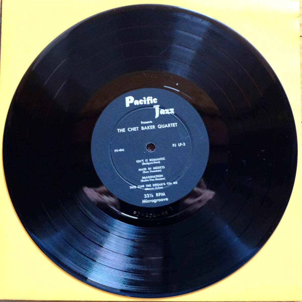 Pacific Jazz PJ-LP3 【The Chet Baker Quartet 】10インチ 極めて良好 フラット盤_画像4