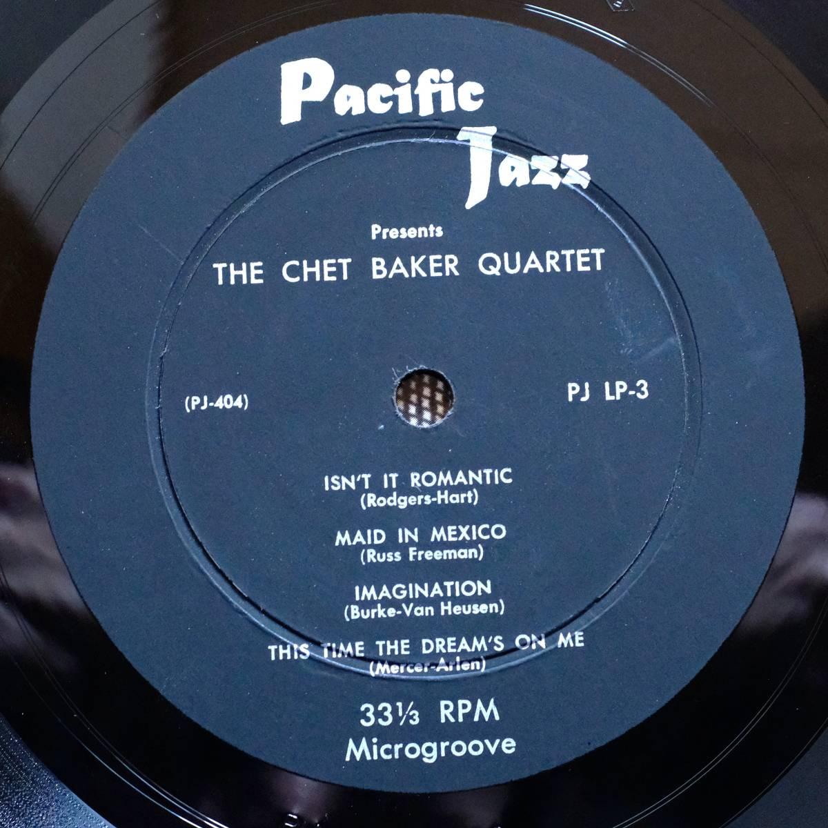 Pacific Jazz PJ-LP3 【The Chet Baker Quartet 】10インチ 極めて良好 フラット盤_画像3