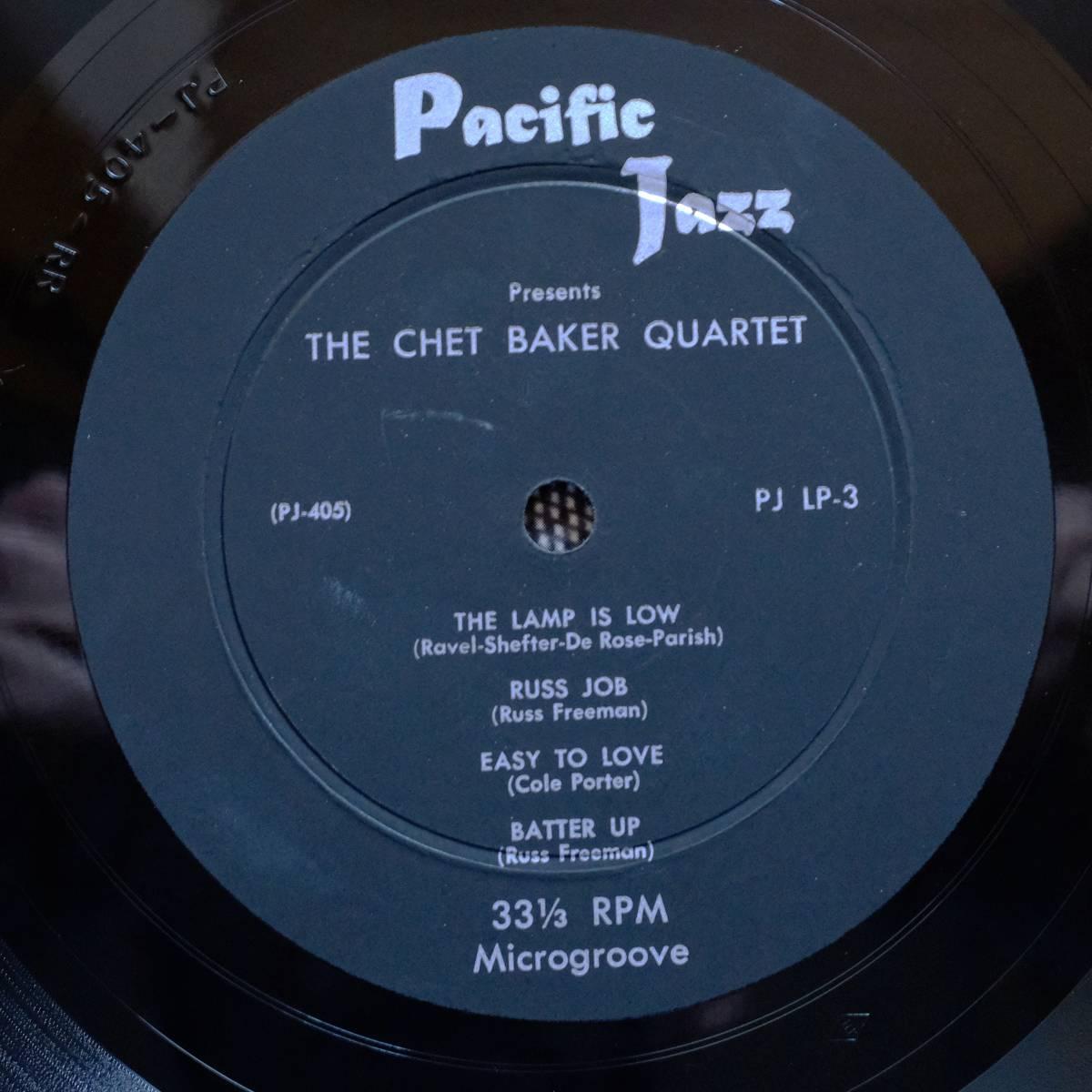 Pacific Jazz PJ-LP3 【The Chet Baker Quartet 】10インチ 極めて良好 フラット盤_画像5