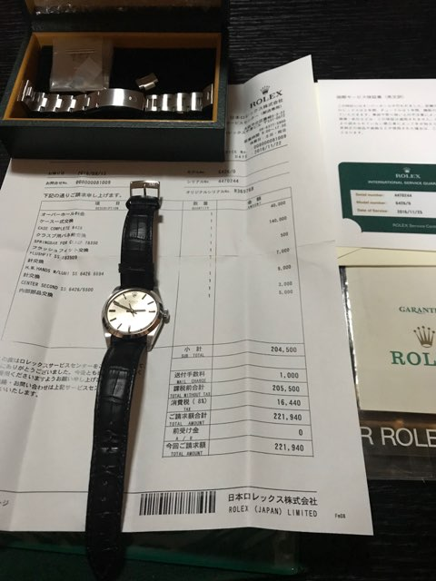 ROLEX 6426 オイスター プレシジョン シルバー 手巻き 日ロレOH済み ロレックス_画像4