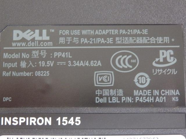 DELL INSPIRON 1545 PP41L ジャンク品?_画像7