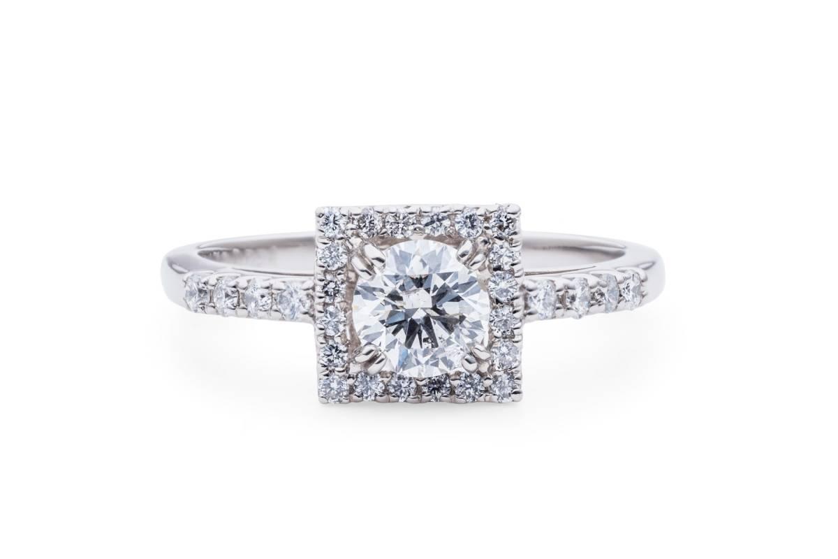 ◆中宝鑑◆Fカラー★新品◆diamond 0.499ct 海外セレブ御用達な極上Ring◆
