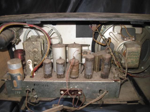 真空管ラジオ NATIONAL EA-370 ジャンク!_画像3