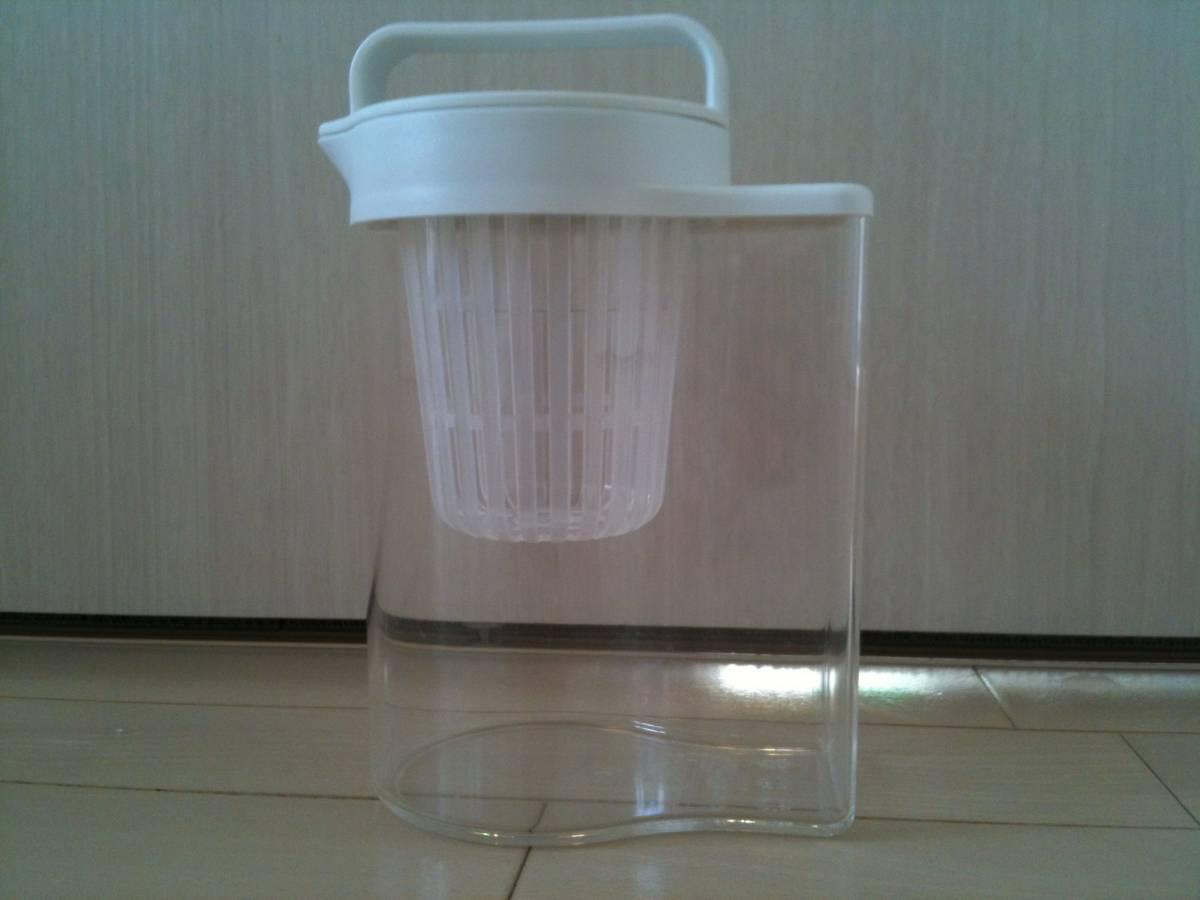【数回使用】無印良品/MUJI/水出しポット/アクリル冷水筒/ドアポケットタイプ 冷水専用約1L/アイスコーヒー/麦茶/だし汁_画像1