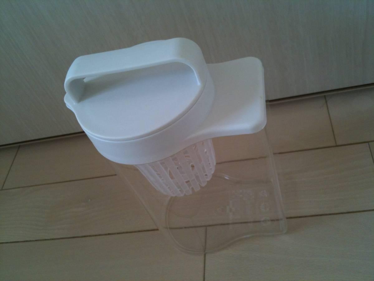 【数回使用】無印良品/MUJI/水出しポット/アクリル冷水筒/ドアポケットタイプ 冷水専用約1L/アイスコーヒー/麦茶/だし汁_画像3