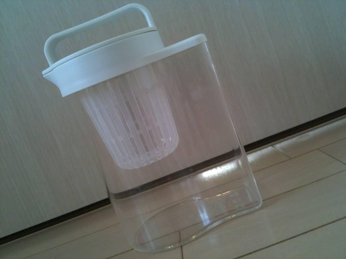 【数回使用】無印良品/MUJI/水出しポット/アクリル冷水筒/ドアポケットタイプ 冷水専用約1L/アイスコーヒー/麦茶/だし汁_画像2