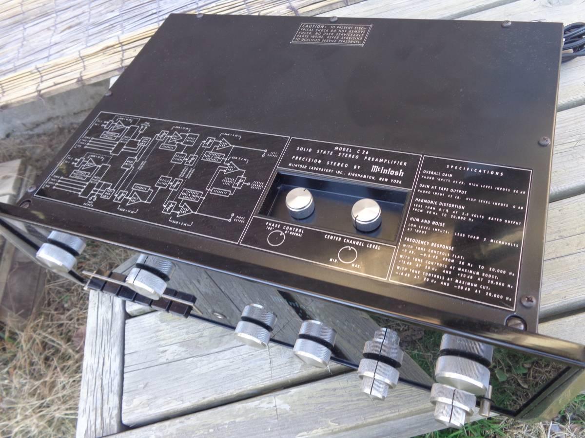 マッキントッシュ プリアンプ  C26 完全ジャンク品 部品取用 120V仕様_画像4