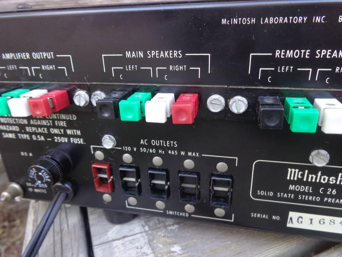 マッキントッシュ プリアンプ  C26 完全ジャンク品 部品取用 120V仕様_画像6