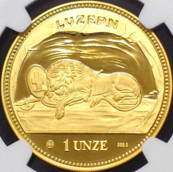 【希少】嘆きのライオン 1 UNZE 大型金貨 1988年 NGC PF68 ULTRA CAMEO