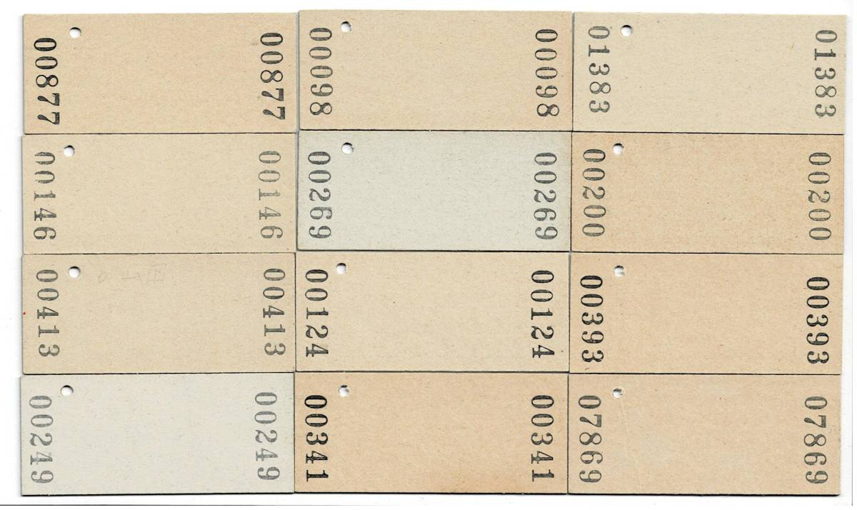 国鉄 60円入場券 仙台印刷 12枚セット パンチ無し やけあり_画像2