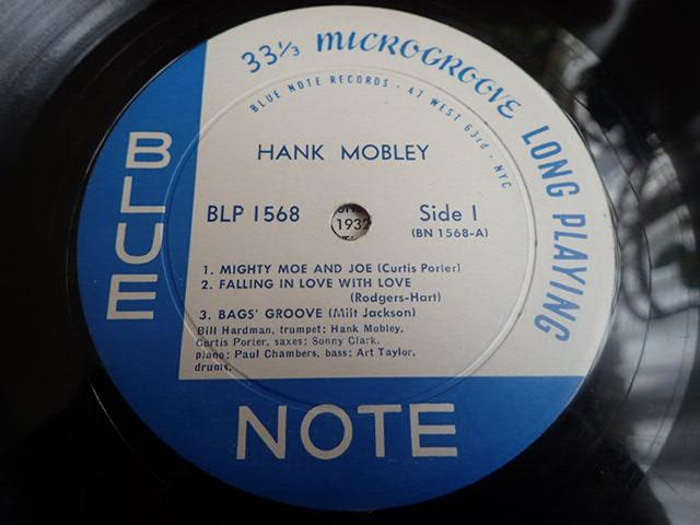 US Blue Note 1568 47W63rd 23付き dg rvg ear HANK MOBLEY_画像3