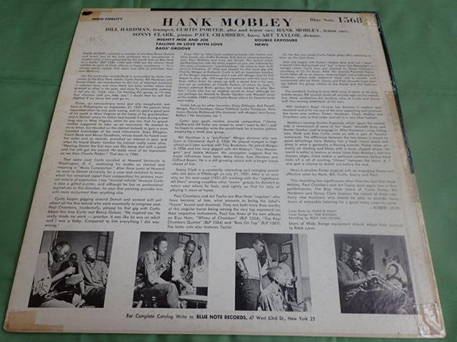 US Blue Note 1568 47W63rd 23付き dg rvg ear HANK MOBLEY_画像2