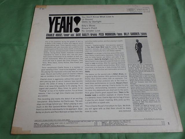美盤:US Epic mono dg YEAH / CHARLIE ROUSE_画像2