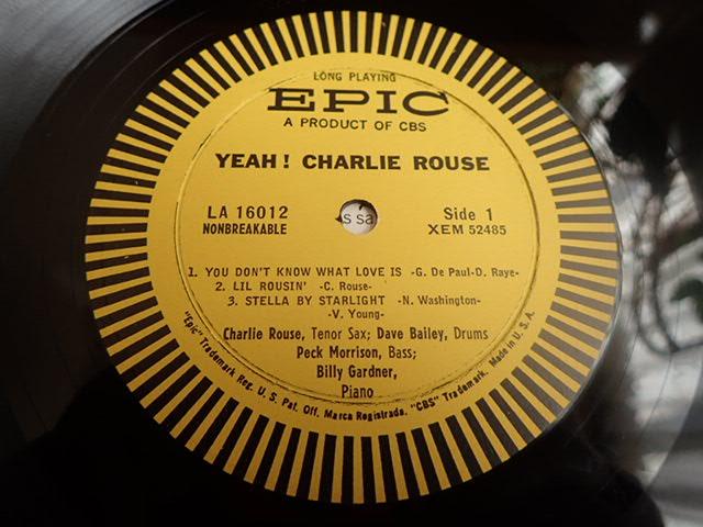 美盤:US Epic mono dg YEAH / CHARLIE ROUSE_画像3