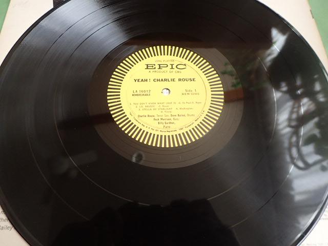 美盤:US Epic mono dg YEAH / CHARLIE ROUSE_画像4